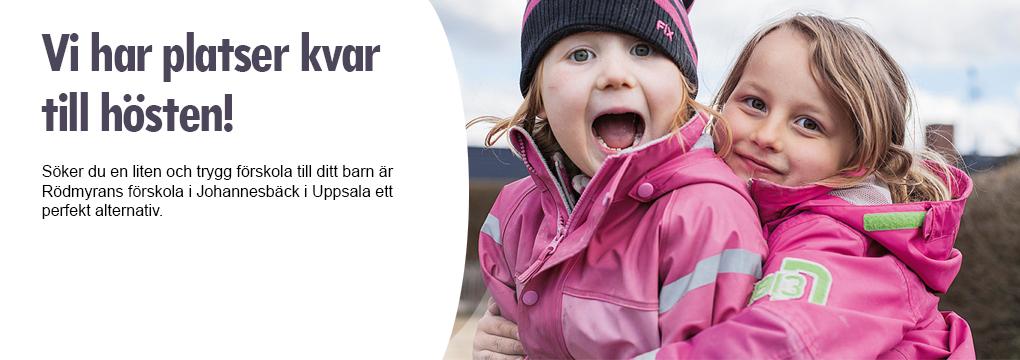 Söker du en liten och trygg förskola till ditt barn är Rödmyrans förskola i Johannesbäck i Uppsala ett perfekt alternativ.